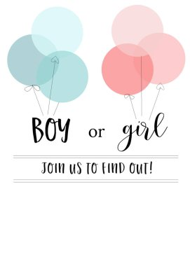Boy or girl join us to find out stock vector