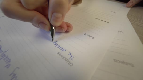 Student taking examination, studying, education concept, writing close up