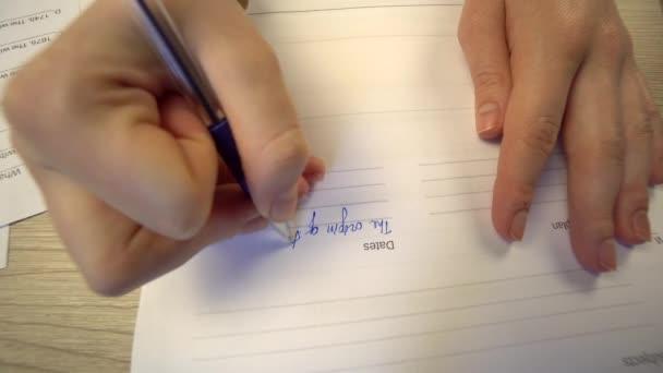 Student writing examitation test, education concept, school, college university