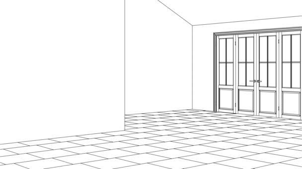 Interni moderni di una casa di campagna. Progetto di design. Riparazioni. rendering 3D.