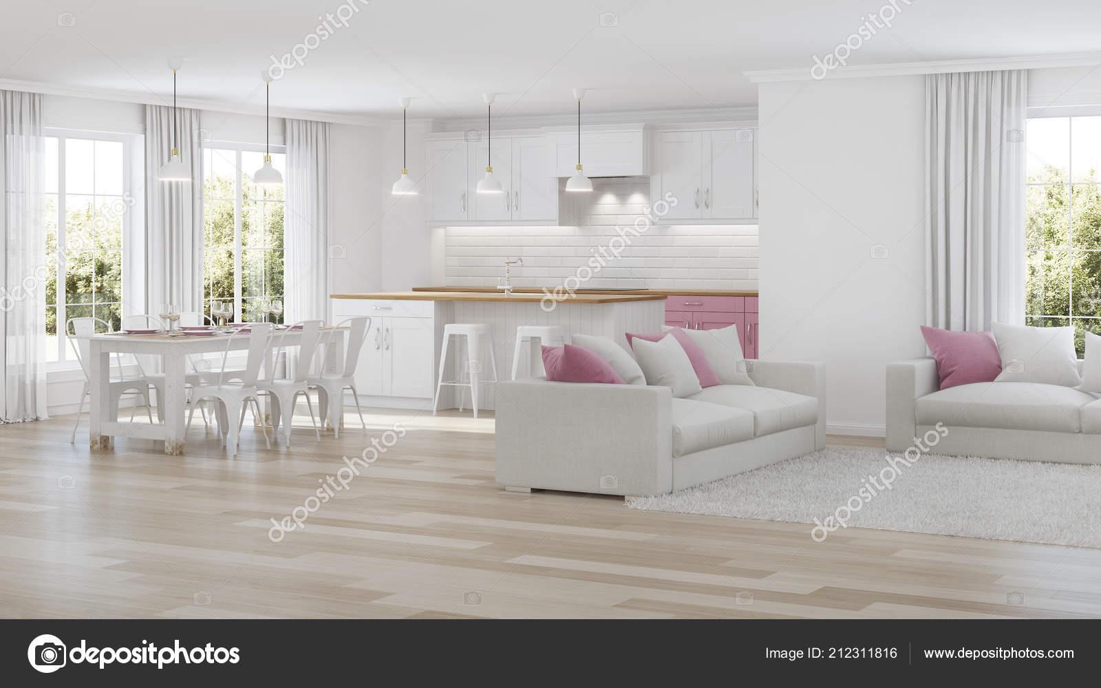 Intérieur De La Maison Moderne. Intérieur Blanc. Rendu 3Du2013 Images De Stock  Libres De Droits