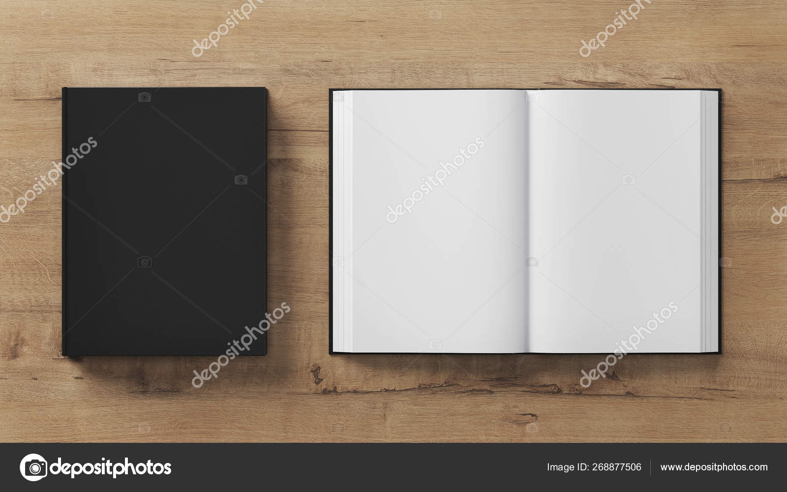 Blank Book Template Presentation Two Books Rendering — Stock
