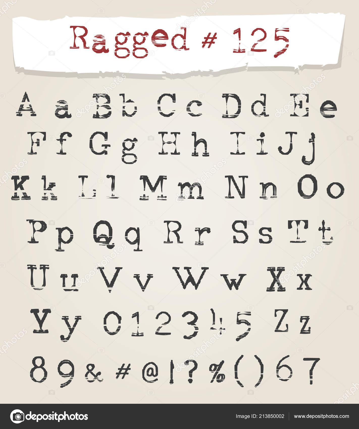 Typewriter calligraphy font | Hand Drawn Ragged Typewriter