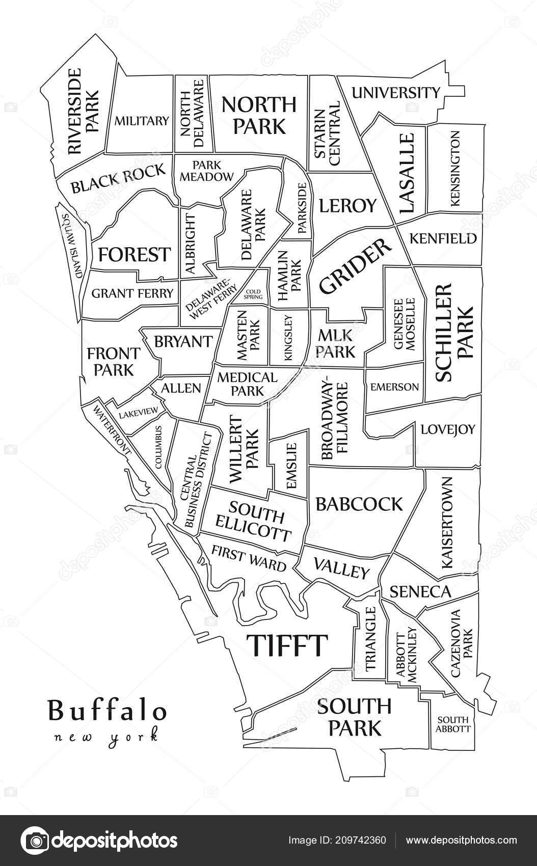 Carte Ville Buffalo.Plan Ville Moderne Buffalo New York Ville Des Usa Avec