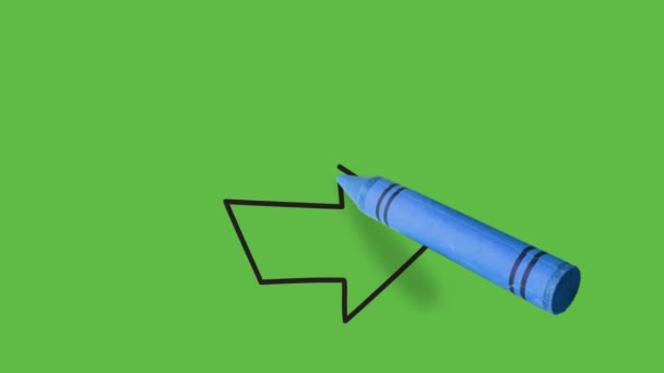Kreslení červené šipky vpravo na zeleném pozadí