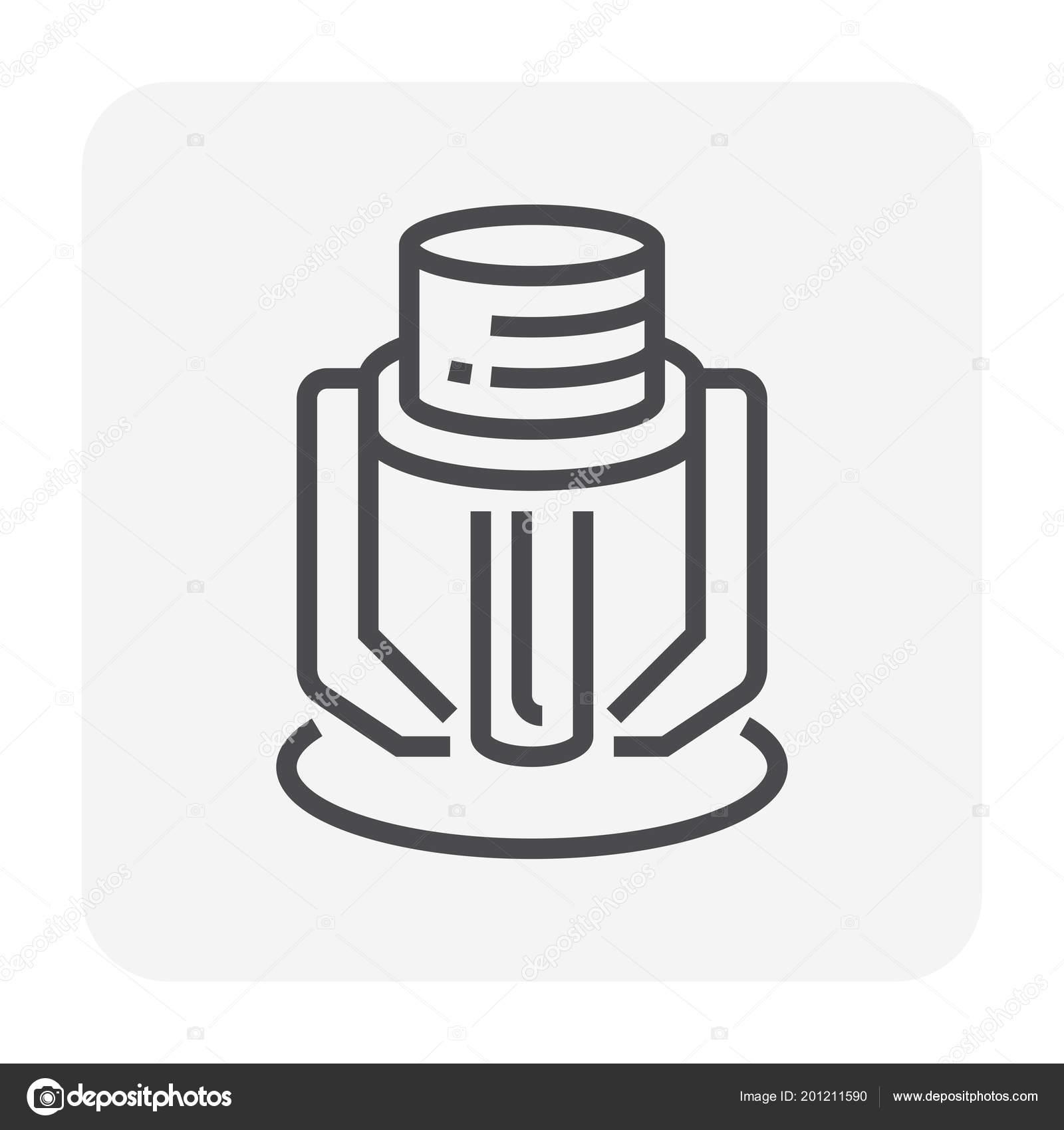 Fire Sprinkler Device Icon 64X64 Pixel Editable Stroke — Stock