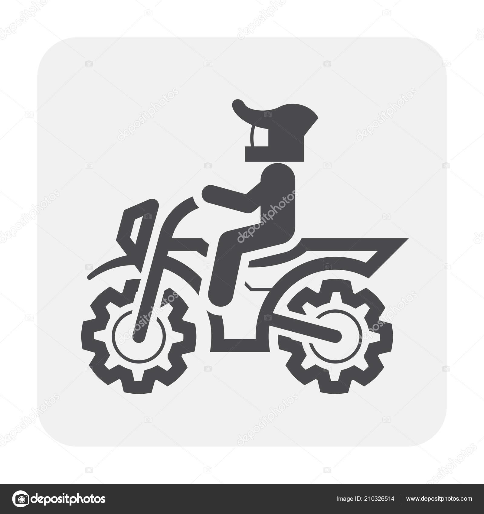 Immagini Disegno Motocross Stilizzato Muta Nero Disegno