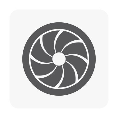 Air conditioner grille icon on white. clip art vector
