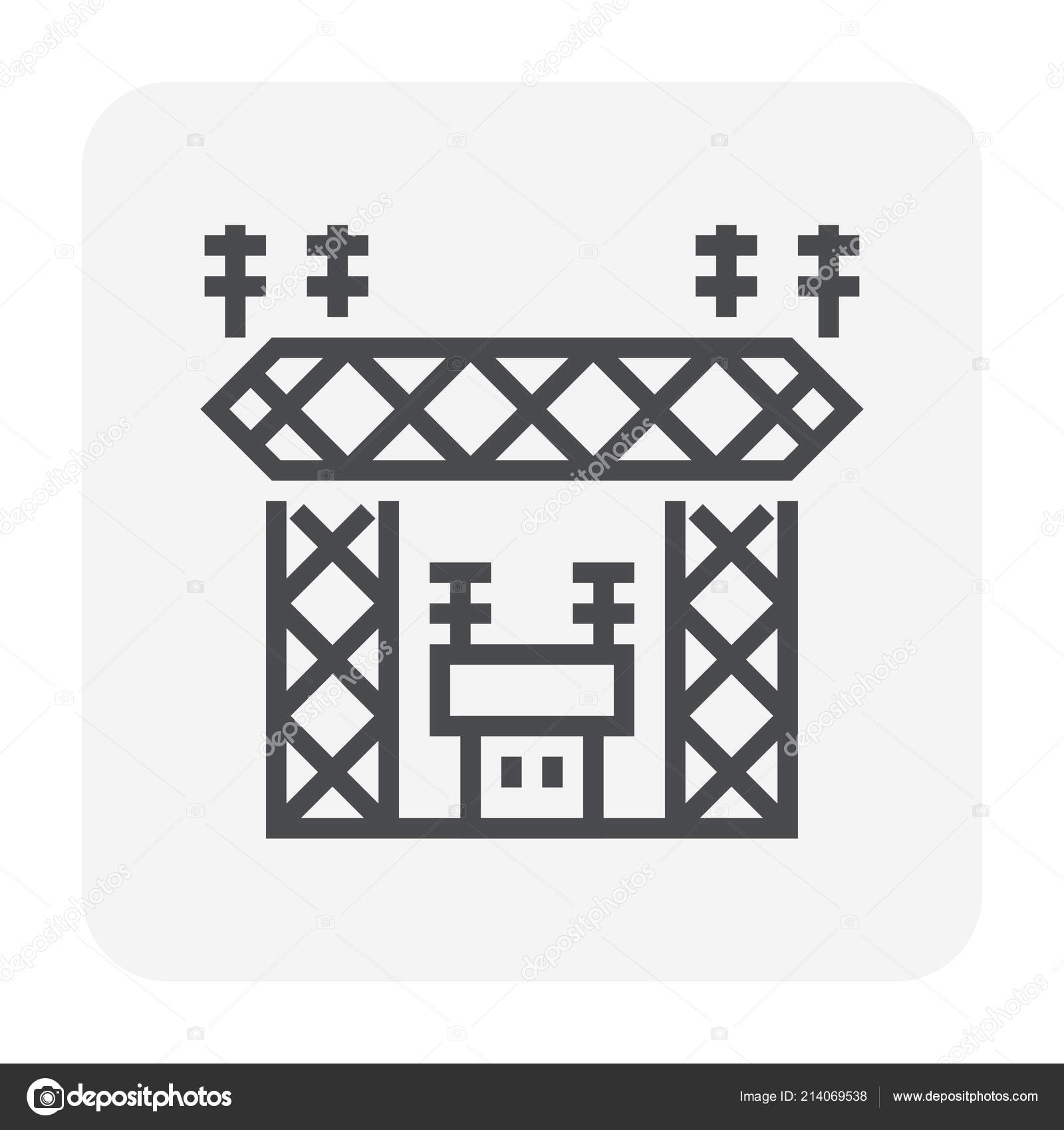 Transmission Tower Transformer Icon Design Distribute