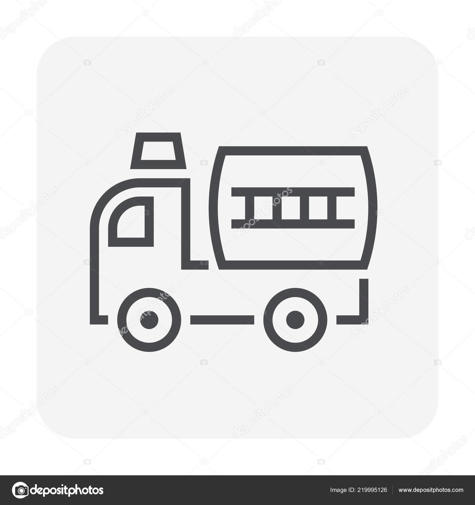 Pompier Camion Icône Design Pour Incendie Travail Pixels