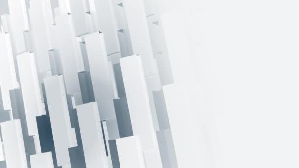 Abstraktní geometrická firemní nebo technologická animace pohybu na pozadí s kopírovacím prostorem: vzorovaný efekt s jemně se pohybujícími geometrickými tvary. Bezešvé smyčky a plné HD.