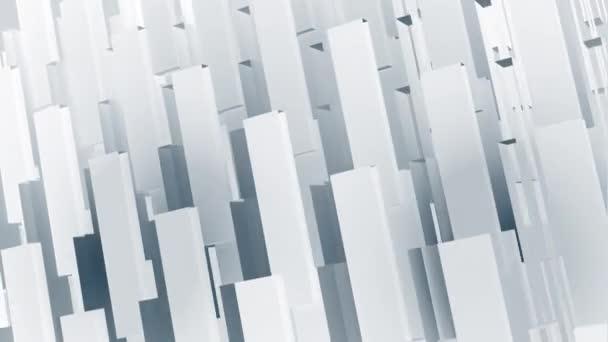 Abstraktní, geometrické firemní nebo technologické animace pohybu na pozadí: vzorovaný efekt s jemně se pohybujícími geometrickými tvary. Bezešvé smyčky a plné HD.