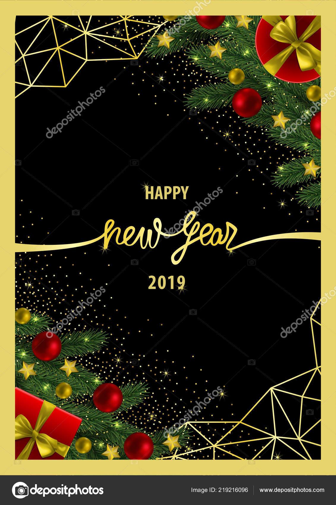 Happy New Year Invitation Card 13