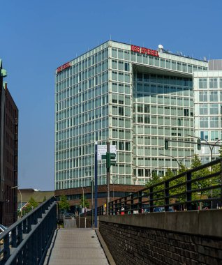 The headquarter building of the Spiegel(The Mirror) newspaper magazine in Hamburg at the Brooktorkai in the middle of the Warehouse District, Germany