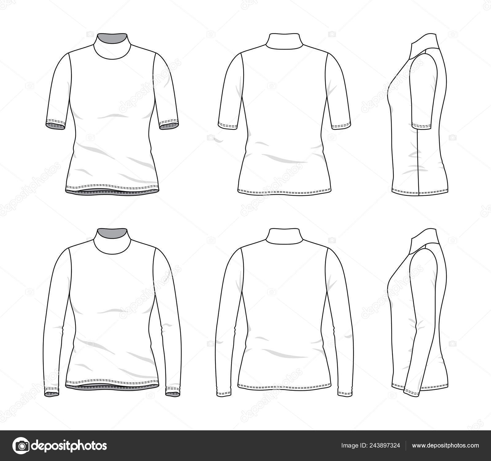 Blank Fashion Design Templates Blank Clothing Templates Stock Vector C Aunaauna2012 243897324