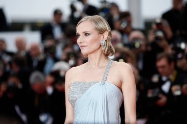 CANNES, FRANCE - MAY 13: Actress Diane Kruger attends the screening of 'Sink Or Swim' during the 71st Cannes Film Festival on May 13, 2018 in Cannes, France. stock vector