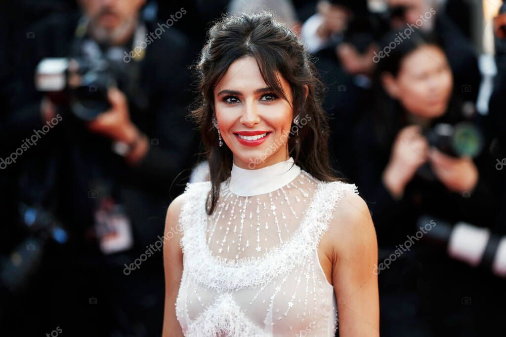 CANNES, FRANCE - MAY 11: Singer Cheryl attends the screening of 'Ash Is The Purest White' during the 71st Cannes Film Festival on May 11, 2018 in Cannes, France. stock vector