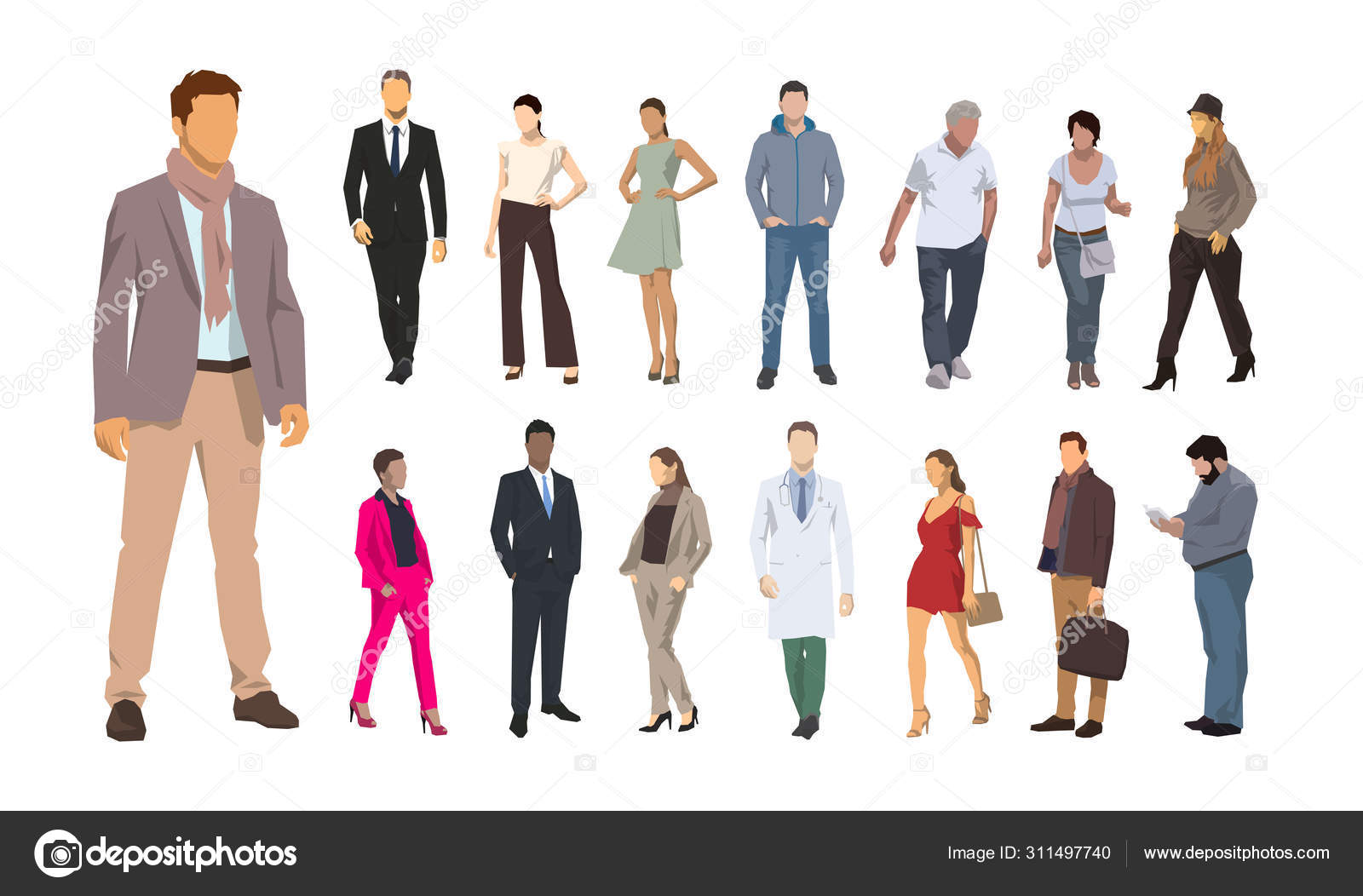group od people flat design illustrations men and women vector stock vector c msanca 311497740 group od people flat design illustrations men and women vector stock vector c msanca 311497740