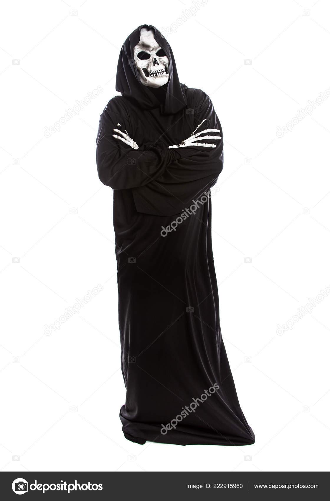 best service d40b5 ac617 Costume Halloween Una Mietitrice Scheletro Indossando Una ...