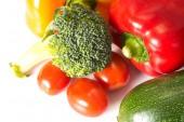 Closeup of many fresh vegetables