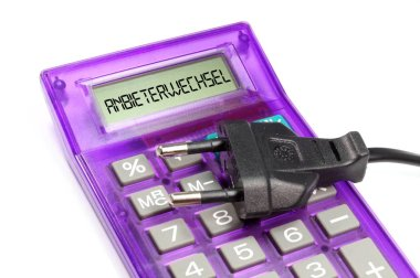A calculator and provider change in electricity delivery