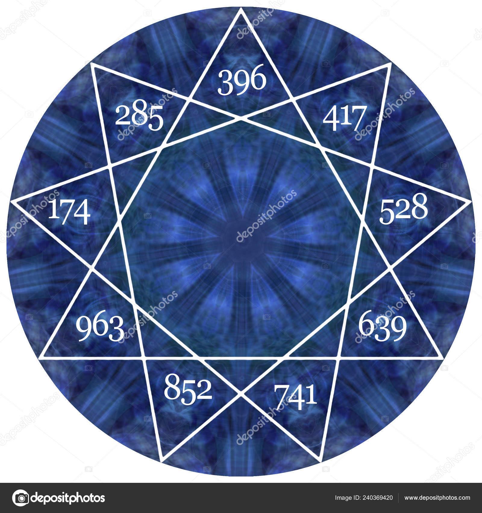 Nine Solfeggio Healing Frequencies Located Nine Pointed Star