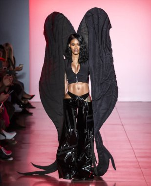 NEW YORK, NY - September 11, 2018: Teyana Taylor walks the runway at the Namilia Spring Summer 2019 fashion show during New York Fashion Week