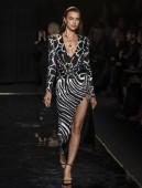 NEW YORK, NY - December 02, 2018: Irina Shayk walks the runway at the Versace Pre-Fall 2019 Runway Show