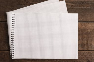 copybook sheet on a rustic background
