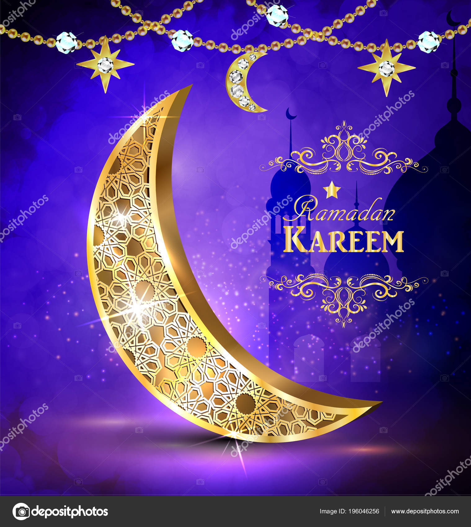 Ramadan Greetings Vector Stock Vector Bastinda18 196046256