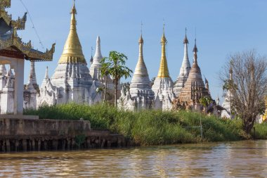 Shwe Inn Dain Pagoda, at Inn Dain Khone village, in Inle Lake, Myanmar