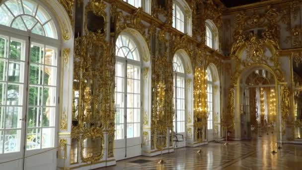 St  Petersburg, Tsarskoe Selo, Russia, June 2018: Interior of Catherine  Palace in Catherine park in Tsarskoe Selo near Saint Petersburg, Russia