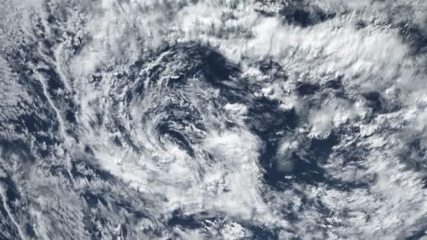 Hurrikan Sturm Tornado, Satelliten-Ansicht. Einige Elemente dieses Video von der Nasa eingerichtet