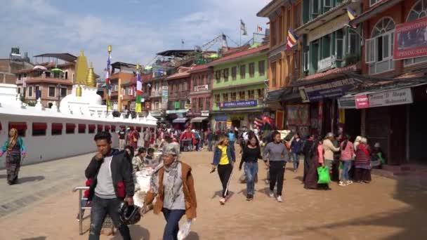 Kathmandu , Nepal - October 2018: Boudhanath Stupa in Kathmandu, Nepal. Boudhanath is a stupa in Kathmandu, Nepal. Located about 11 km from the center and northeastern outskirts of Kathmandu, the stupa's massive mandala makes it one of the largest sp