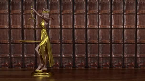 Statue of Justice, Themis, Femida with scales and a sword in his hands. 3d render.