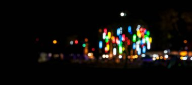 Blurred and Bokeh form light color