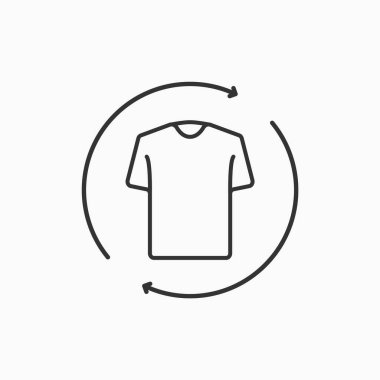 Second hand concept. Recycle clothing concept. Laundry and dry cleaning icon. Vector icon
