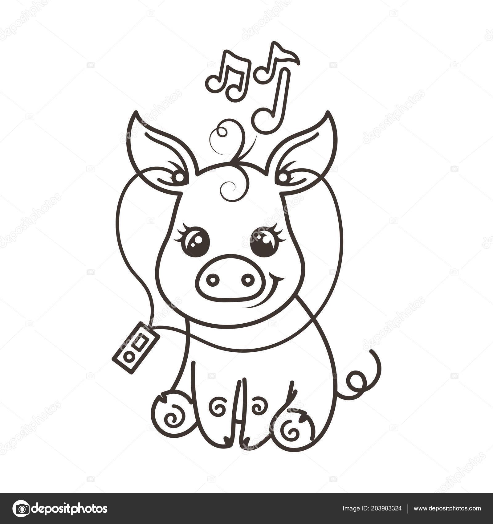 Cerdo Bebe Para Colorear Apanageetcom
