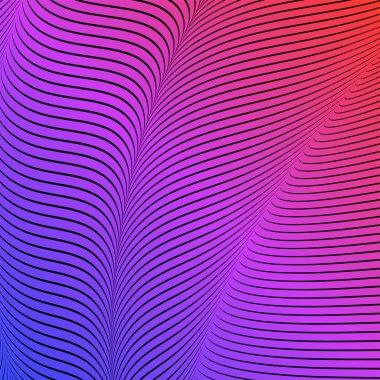 """Картина, постер, плакат, фотообои """"абстрактный кислый цвет, восковой фон, оптическое искусство, опарт полосатый. неоновый градиент """", артикул 256301800"""