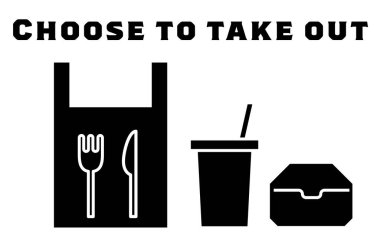 Icon recommending you to choose takeout icon
