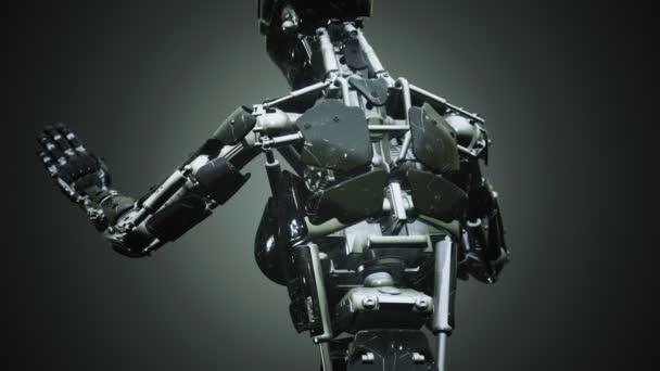 Robot žena z oceli a plastu