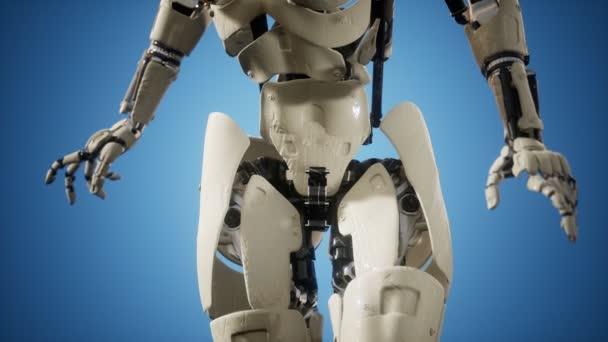 Cyborg žena s strojní částí těla