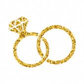 Svatební prsten. Diamant. Moderní minimální design styl.Svatba nebo zásnubní ilustrace