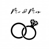 Svatební prsteny. Diamant. Moderní minimální design styl.Svatba nebo zásnubní ilustrace