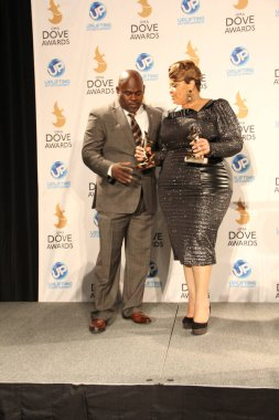 Backstage at the 44th Annual GMA Dove Awards at the Allen Arena in Nashville, Tennessee on October 15, 2013.