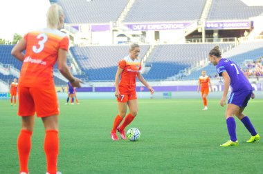 Orlando Pride host Houston Dash at Camping World Stadium in Orlando Florida on June 23, 2016.