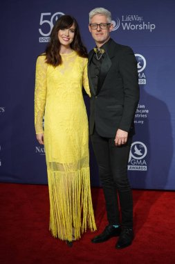 Singer Matt Maher and his wife Walk the Red Carpet at the 50th GMA Dove Awards at Linbscome University in Nashville, Tennessee on October 15, 2019.  Photo Credit:  Marty Jean-Louis
