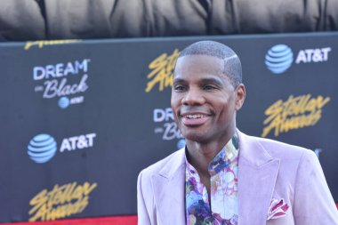 Kirk Franklin walk the red carpet during the 34th annual Stellar Awards in Las Vegas Nevada on March 29, 2019.