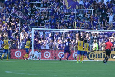 Orlando City hosts the Colorado Rapids at the Orlando City Stadium in Orlando, Florida on April 29, 2017)