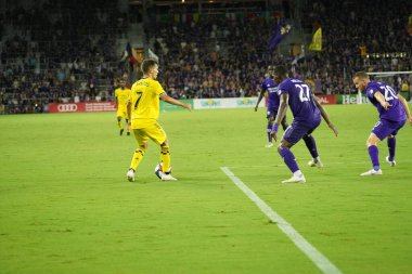 Orlando City host Columbus Crew at Orlando City Stadium on July 13, 2019 in Orlando Florida.